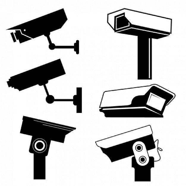 Graphics cctv camera vector 6204
